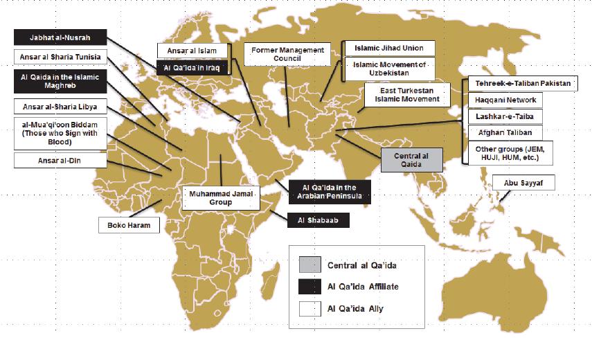 Kaart Jihadisme
